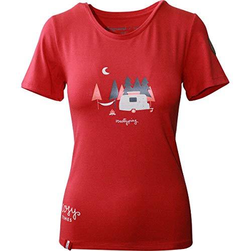Almgwand W Rosemialm Rot, Damen T-Shirt, Größe L - Farbe Wine Red