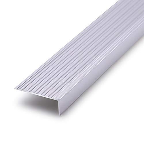 NEHARO Escalera Edge Red Trim 1.2M Longitud L Forma de Aluminio Anti Deslizamiento Sin Deslizamiento Rose 50x20mm ángulo Escaleras de Borde de escalones Anti-Collision Angle 2 PCS Piso