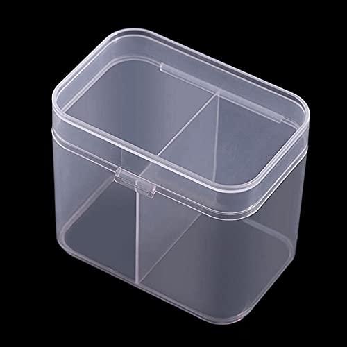 armario de almacenamiento 2 cuadrícula de caja de almacenamiento de plástico con descarga de tapa herramienta de manicura de algodón cosmético lavado de toalla caja de almacenamiento uñas pluma conte