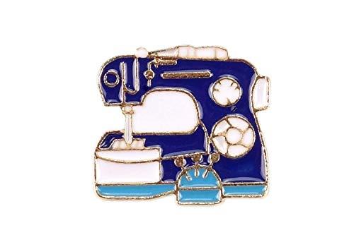 Nähgedöns Pin, máquina de coser, azul oscuro, turquesa, broche