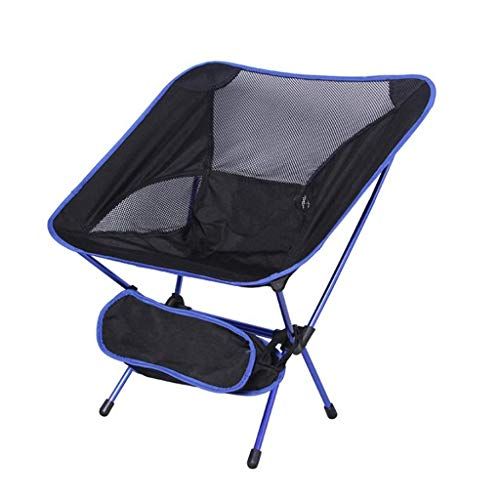 YLCJ Opvouwbare campingstoel, Camping stoel licht strand, compacte en duurzame draagbare stoelen voor strand, camping, backpacking, outdoor festivals Royal Blauw