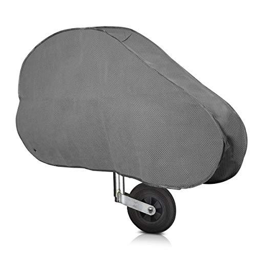 kwmobile Housse Timon Caravane - Housse de flèche imperméable - Protection attelage remorque - pour Nombreuses caravanes - avec tendeur élastique