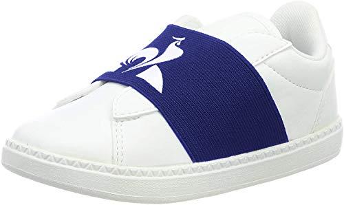 Le Coq Sportif Unisex Kinder COURTSTAR INF Strap Sneaker, Weiß Optical White Cobalt, 21 EU
