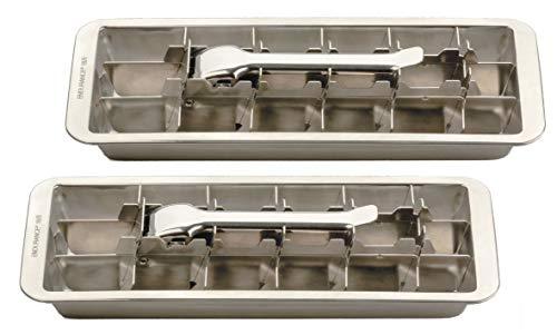 Endurance Eiswürfelform aus Edelstahl für 18 Eiswürfel, 2 Stück