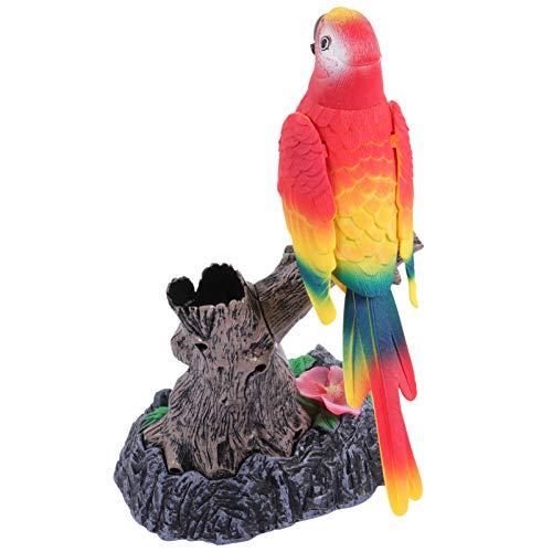 TOYANDONA - Perroquito hablante, repite lo que dice, juguete de animal de peluche con figuras de loro, juguetes de pájaros, parlantes para niños, suministros de fiesta de cumpleaños