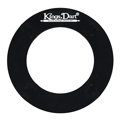 Kings Dart Surround | Auffangring, Backboard für Dartscheiben mit Ø von 45 cm | Schutz für Wand u. Darts | Weicher Kunststoff | Schwarz | 72x72 cm