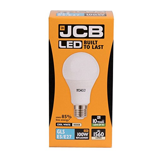 JCB 15 W = 100 W LED GLS lamp E27 ES Opal 4000 K (S12506) Cool White 1560 lm