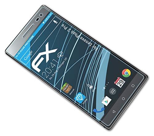atFolix Schutzfolie kompatibel mit Lenovo Phab 2 Pro Folie, ultraklare FX Bildschirmschutzfolie (3X)