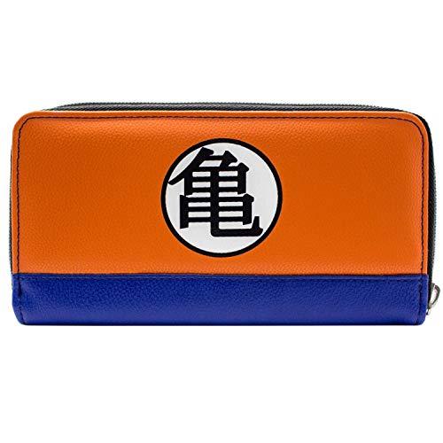 41tj3PHj2IL - Cartera de Dragon Ball Z Kame simbolos Naranja