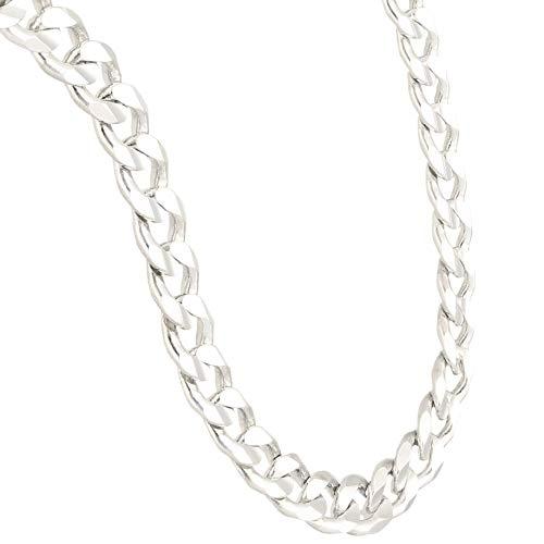 Jollys Jewellers Cadena de plata de ley de 55,88 cm para hombre (7 mm de ancho)
