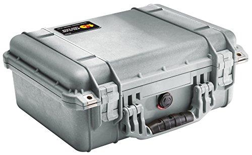Pelican 1450 Case With Foam (Silver)