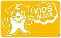 imoninn KIDS in car ステッカー 【マグネットタイプ】 No.64 ピースさん (黄色)