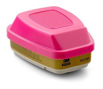 3M Multi Gas Vapor Cartridge, Filter 60926, P100 Respiratory Protection (5 Pair)