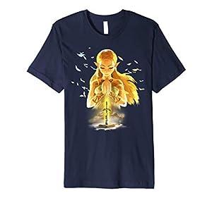 Zelda Breath Of The Wild Zelda Watercolor Portrait Premium T-Shirt