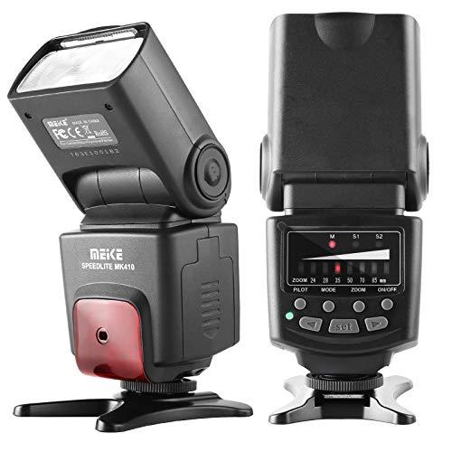 Meike MK-410 Manual LCD Display Universal Flash Speedlite for Canon Nikon Pantax Panasonic Olympus Fujifilm DSLR Mirrorless Cameras