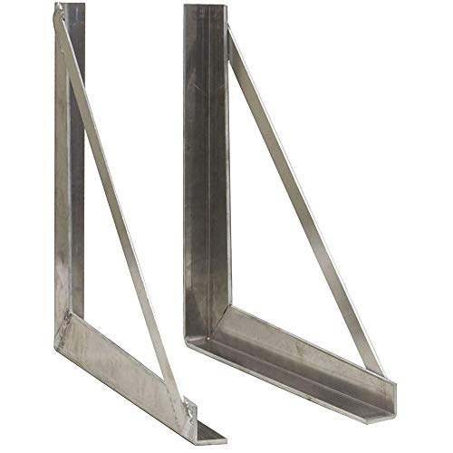 Toolbox Mounting Brackets 18 x 24 - Pair Stainless Steel