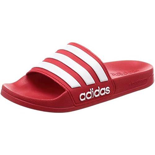 adidas Adilette Shower, Scarpe da Spiaggia e Piscina Uomo, Rosso Scarlet White Scarlet, 37 EU