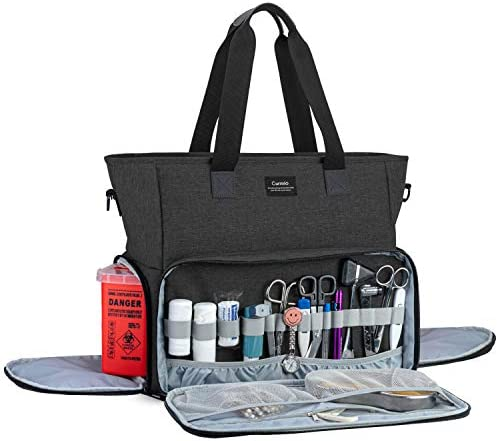 CURMIO Nurse Bag and Tote for Work Nursing Clinical Bag with Padded Laptop Sleeve for Home Visits product image