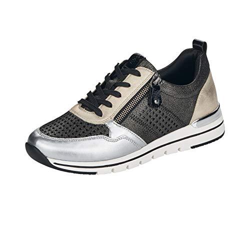 Remonte R6702 - Zapatillas deportivas para mujer, color Negro, talla 37 EU