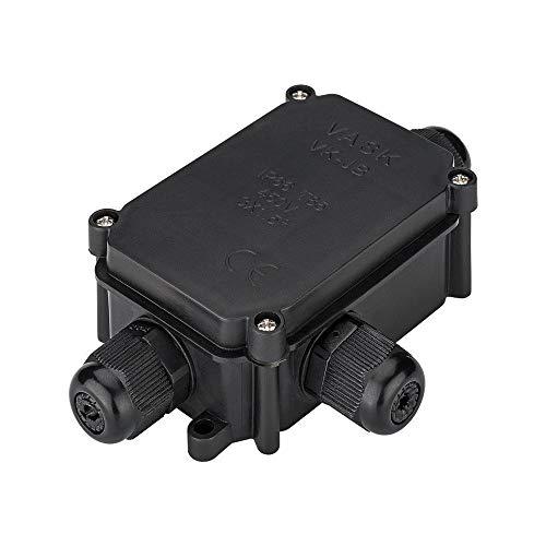 Goobay 56660 IP-66 Schutzbox für Lüsterklemmen, wasserdicht, Verbindungsbox Abzweigdose Verteilerdose, Schwarz