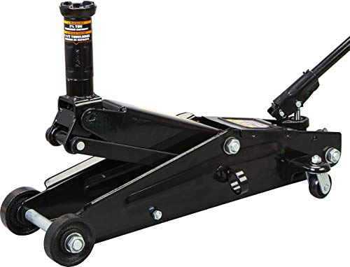Torin A94117B BlackJack Hydraulic Trolley Service/Floor Jack with Extra Saddle (Fits: SUVs and Extended Height Trucks): 3 Ton (6,000 lb) Capacity, Black