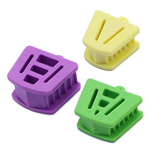 Rosenice Zahnärztliche Mundstütze, Beißblock, interne Stütze aus Silikon, gepolsterter Mundöffner, Retraktor, Okklusionspolster, orthodontische Hilfsmittel, 3 Stück