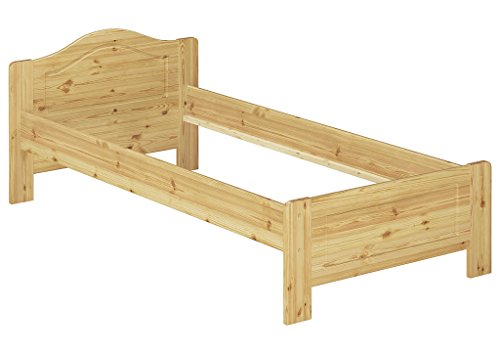 Erst-Holz® Kieferbett Natur Einzelbett Jugendbett Futonbett 90x200 Massivholzbett ohne Rollrost 60.37-09 oR