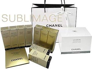 CHANEL LE COTON + SUBLIMAGE SAMPLE SET シャネル コットン1箱+サンプル10点セット ロゴ入りオーガニックコットン 100枚入 サブリマージュ サンプル10点 CHANEL ショップバッグ&リボン