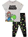 Super Mario Pijamas de Manga Corta para Niños Gris 7-8 Años