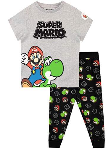 Super Mario Jungen Schlafanzug Grau 128