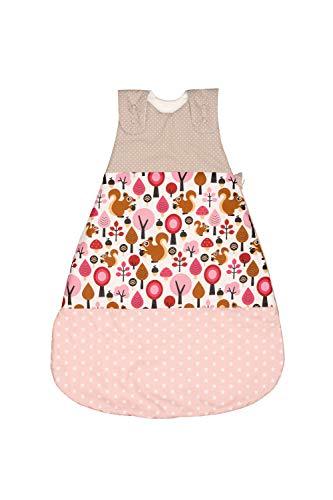 ULLENBOOM Sommerschlafsack Baby Sand Eichhörnchen (Made in EU) - Schlafsack Baby Sommer aus Baumwolle, bequemer Schlummersack für Babys und Neugeborene, Größe: 56 bis 62