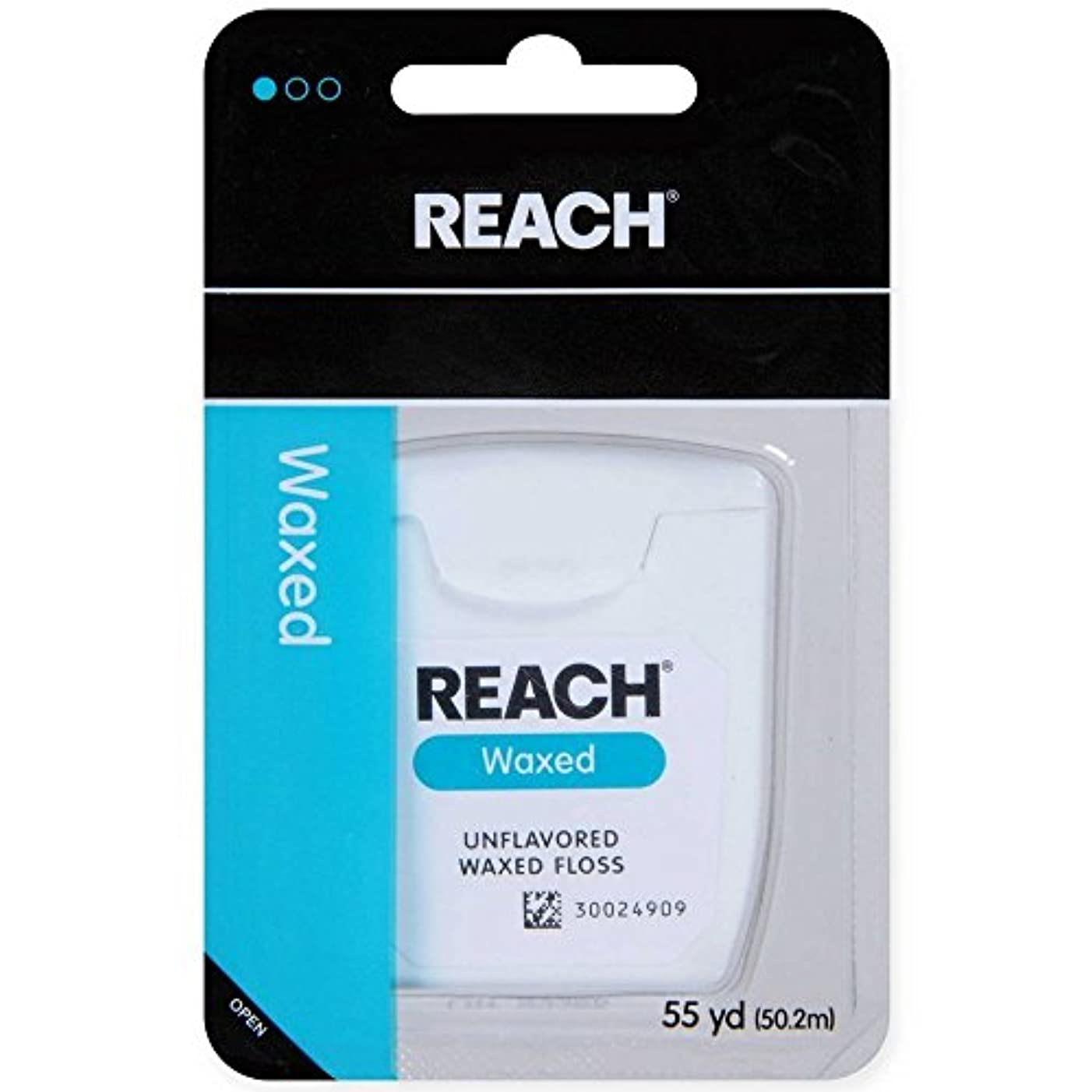 REACH Unflavored Waxed Dental Floss, 55 yds (Pack of 12)