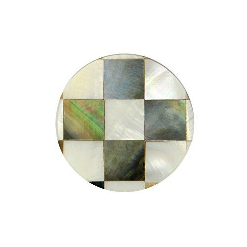 Quiges Dames Coin 25mm Schelp Multi Ruitjes Patroon voor Munthouders en Kettingen