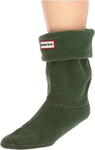Hunter - Calcetines cortos para botas, color verde cazador (corto), talla MD (zapato de mujer 5-7)