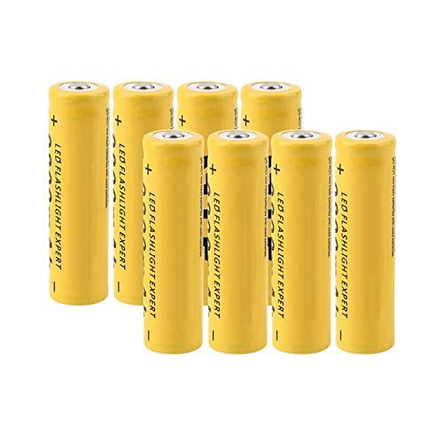 MGLQSB 18650 Batería De Litio De 3.7v 9800mah, Carga De La CéLula del Li-Ion De Las BateríAs Recargables para El Amarillo De La Linterna 8pcs