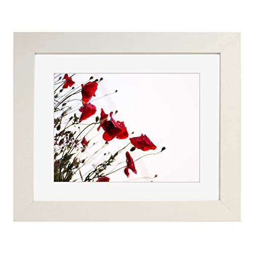 Tailored Frames-white vierkant design fotolijst met afmetingen 35,6 x 30,5 cm voor 30 x 24 cm antiek wit houder, om op te hangen.