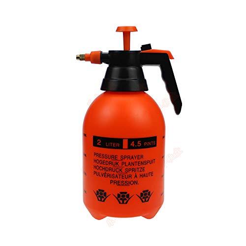 Tianermei Hand Pump Sprayer Garden Spray Bottle 0.5 Gallon Hand-held Sprayer Pump Sprayer Suitable for Garden and Lawn Care (Orange)