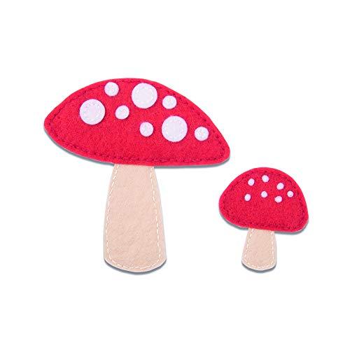 Sizzix Fustella Spessa in Acciaio Bigz Fungo, 10.8cm x 10.5cm-0.3cm x 0.3cm, Multicolore, taglia unica