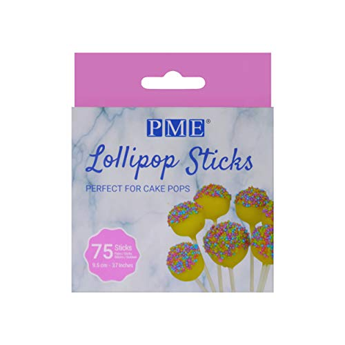 PME LS170 Bastoncini per Lollipop e Cake Pops, 75-Pack, 75 unità