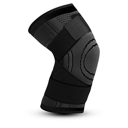 ENERGMiX Paquete de 2 Fundas de compresión para Rodilla, Soporte de Ajuste de compresión para aliviar el Dolor en Las articulaciones y la Artritis, Mejor compresión de la circulación L Black