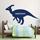 Dinosaur Vinyl Wall Funny Decals - Personalized Hadrosaurus for Boy s Room, Playroom Decoration- Christmas Decor Sticker Gift