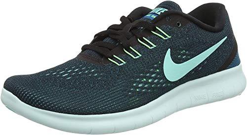 Nike Mädchen Free RN Laufschuhe, Mehrfarbig (Black/Hyper Turquoise-Green Abyss-Violet), 35.5 EU
