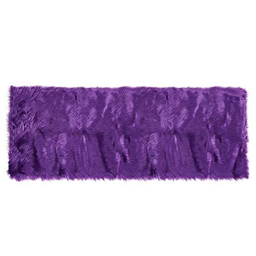 Sourcingmap - Alfombra de piel de oveja sintética para interior, suave, para dormitorio, sofá, gabinete, sala de estar, dormitorio 2x5 Feet morado