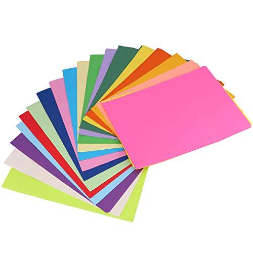 200 piezas de papel colorido origami artesanía papel divertido DIY plegable de papel de mano suministros para niños niños