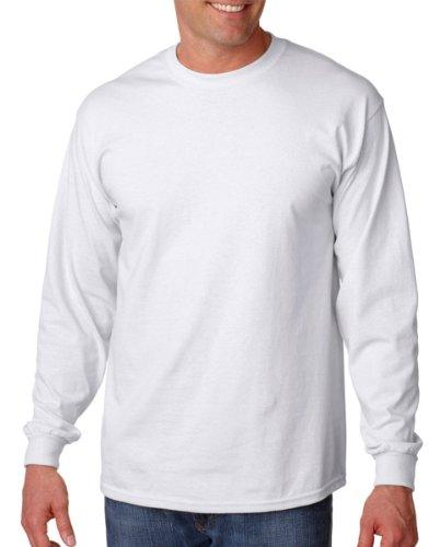 Gildan Ultra Cotton G2400 Kurzarm-T-Shirt, Herren, Weiß, XL