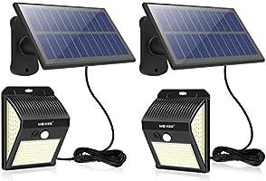 MEIKEE 分離型 センサーライト 屋外 ソーラーライト 人感センサー ガーデンライト 防犯ライト 壁掛け式【最新版200LED】3面発光 270°照明範囲 明暗センサー 自動点灯/消灯 常時点灯 人感点灯 IP65防水 8時間連続照明可能 高輝度