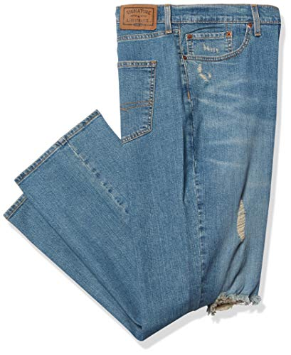 Signature by Levi Strauss & Co. Gold Label Men's Regular Straight Fit Jeans, Expander, 36W X 30L