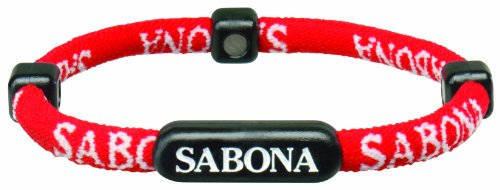 Sabona Athletic Bracelet (Red, Large/X-Large/7.75)