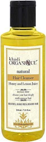 Glamorous Hub Khadi Organique Limpiador de cabello con miel y jugo de limón (champú), paquete de 1 (el paquete puede variar)