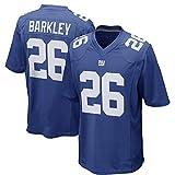 ラグビー半袖コットン、NFLニューヨーク・ジャイアンツBARKLEY 26#、通気性、吸汗性スポーツジャージ (Color : B, Size : XXL)